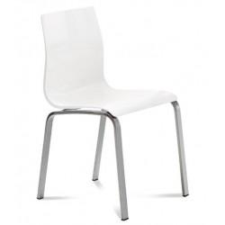 Chaise de cuisine GEL R par DOMITALIA blanche