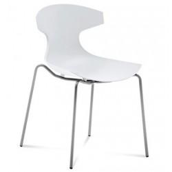 Chaise design ECHO blanche par DOMITALIA.
