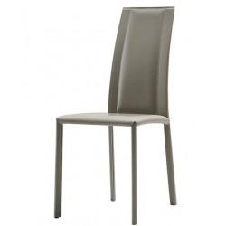 Chaise cuir design SILVY par MIDJ.