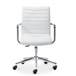 Chaise de bureau en cuir KRONO avec accoudoir