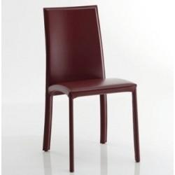 Chaise en cuir de salle a manger BARBARA