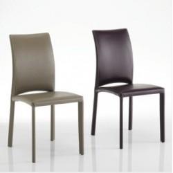 Chaise cuir contemporaine confortable GOURMET