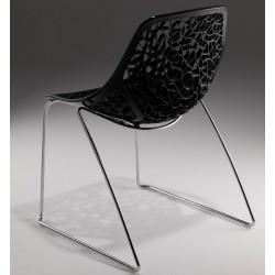 Chaise noir design CAPRICE Fil par Casprini.