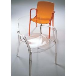 Chaise rouge avec accoudoir TIFFANY