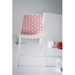 Chaise design empilable Alhambra rouge