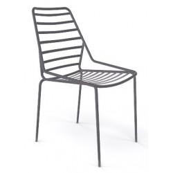 Chaise empilable originale LINK de jardin grise