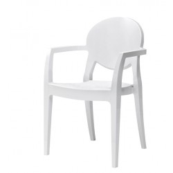 PROMOTION - Fauteuil IGLOO avec accoudoirs BLANC