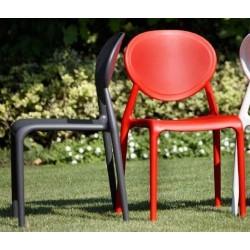 DESTOCKAGE - Chaise de jardin GIO Rouge