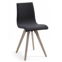 Chaise confortable salle à manger NAU tissu antrhacite