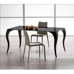 Table design en verre noir BOND