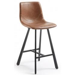 Tabouret design CRAT vinyle marron oxyde hauteur 65cm