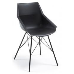 Chaise cuisine design et pas cher NUNK coloris noir