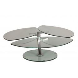 Table basse en verre design LYS ouverte
