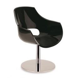 Fauteuil pivotant design OPAL M noir