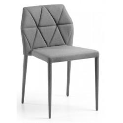Chaise design pas cher en tissu VAGRETI gris