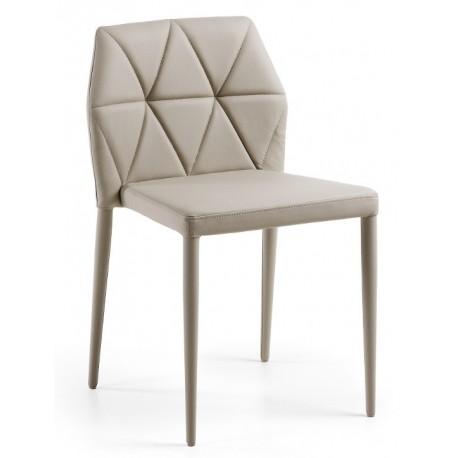 Chaise design pas cher en vinyle perle VAGRETI