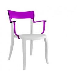 Chaise design avec accoudoir HERA K