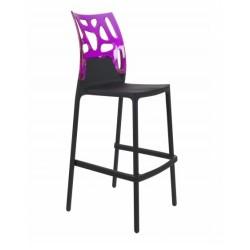 Tabouret bar EGO ROCK noir violet par Papatya.