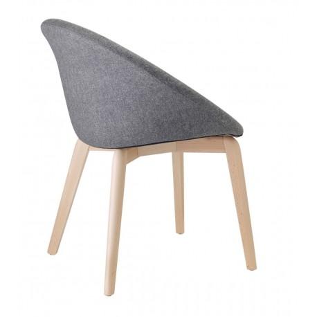 Chaise design pieds bois GIULIA par Scab.
