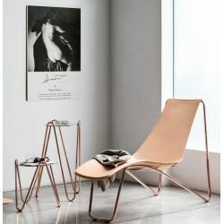 Chaise longue en cuir Apelle CL par MIDJ.
