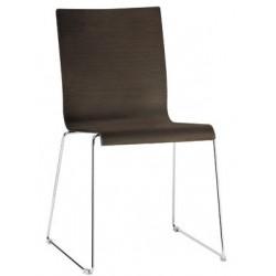 Chaise de restaurant empilable KUADRA 1328 chene wengué