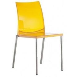 Chaise Pedrali design KUADRA 1271 transparente jaune