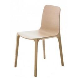 Chaise bois design FRIDA par PEDRALI chene naturel