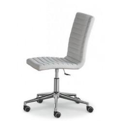 Chaise de bureau avec roulette KRONO D cuir blanc