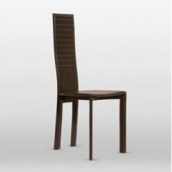 Chaises contemporaine cuir MAGDA cuir marron