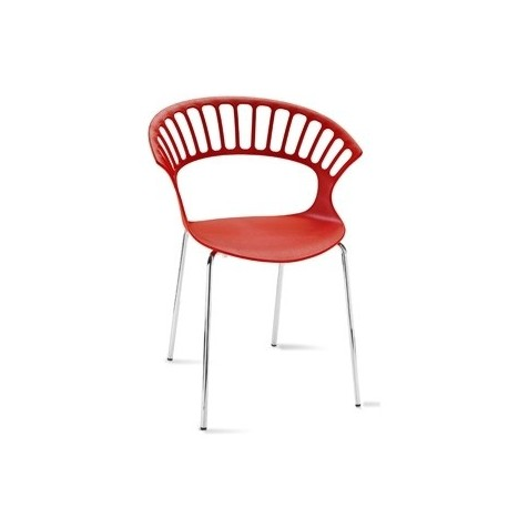 Chaise design TIARA rouge