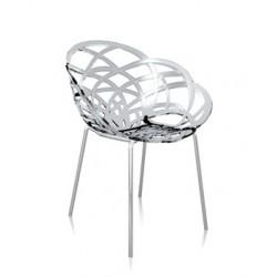 Chaise design transparente FLORA ML