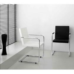 Chaise de bureau H5L noir et blanc