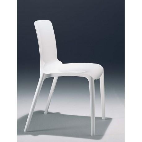 Chaise design blanche TIFFANY par CASPRINI