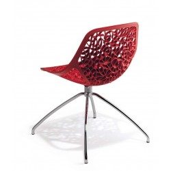 Chaise design rouge CAPRICE par CASPRINI