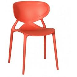 Chaise de terrasse ANGEL L rouge.