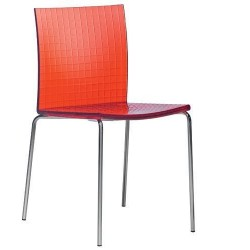Chaises design INFINITY empilable rouge