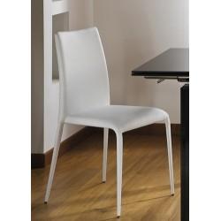 Chaise cuir blanche KING cuir rectifié
