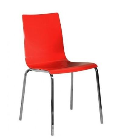 Chaise rouge GABY pour la cuisine, la salle à manger ou le bureau