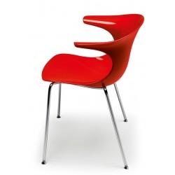 Chaise plastique rouge LOOP