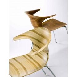 Chaise bois design LOOP 3D