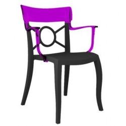 Chaises design en PROMOTION gris et violet