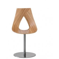 Chaise design pied central NASTRO zebrano