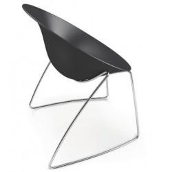 Chaise design noir AZHAR Wire par CASPRINI