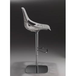 Tabouret blanc pivotant CAPRICE design CASPRINI