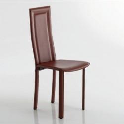Chaise de salle à manger en cuir TESS par Fabris Adriano