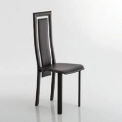Chaise de séjour contemporaine en cuir noir BETTY par Fabris Adriano