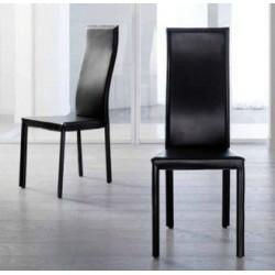 Chaise en cuir contemporaine JACQUELINE HAUTE par Fabris Adriano