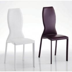 Chaise déco design KIMORA blanche, rouge, noir ...
