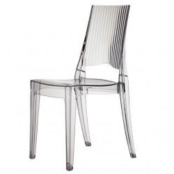Chaise transparente pour salle de restaurant design GLENDA