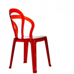 Chaise pas cher design TITI par SCAB Design polycarbonate rouge